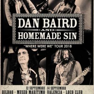 Gira española de Dan Baird and Homemade Sin septiembre 2018