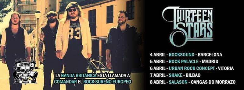 Entrevista a Thirteen Stars gira española 2018