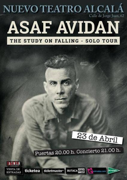 Asaf Avidan llega a Madrid en el Teatro Nuevo Alcalá el 23 de abril de 2018.