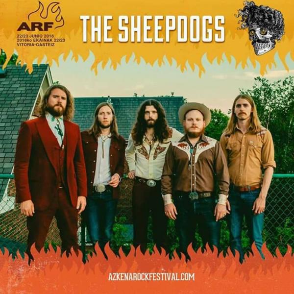 The Sheepdogs en el Azkena Rock Festival 2018