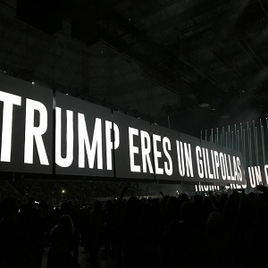 Roger Waters Barcelona Trump 14 abril
