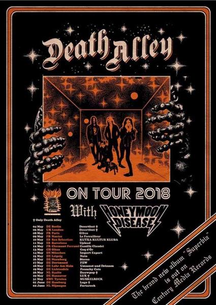 Death Alley presentará su nuevo disco Superbia en San Sebastián y Barcelona