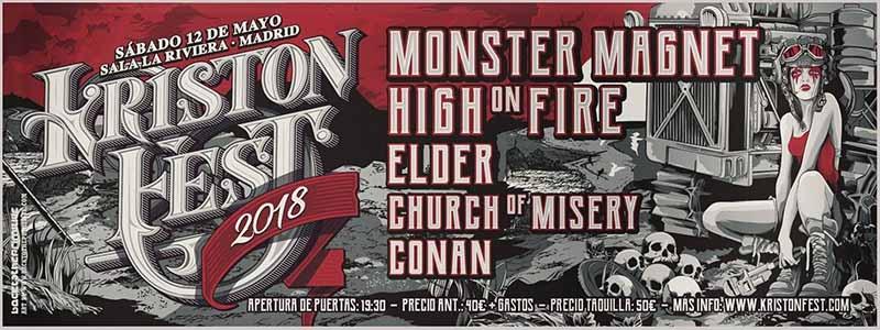Monster Magnet presentarán su nuevo disco Mindfucker en Bilbao y Madrid Kristonfest 2018