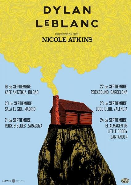 Gira española de Dylan LeBlanc junto a Nicole Atkins 2018