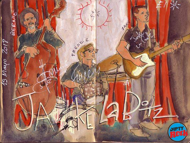 Jake La Botz Madrid 2018. dibujo Cayetana Álvarez