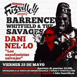 Barrence Whitfield y Dani Nel.lo, programa doble en la sala Stereo de Alicante