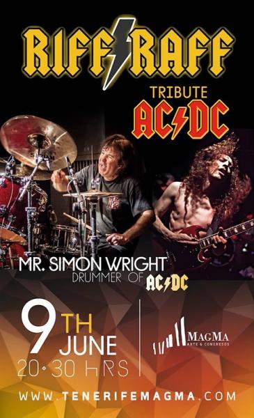 Simon Wright, ex batería de ACDC, actuará en Tenerife