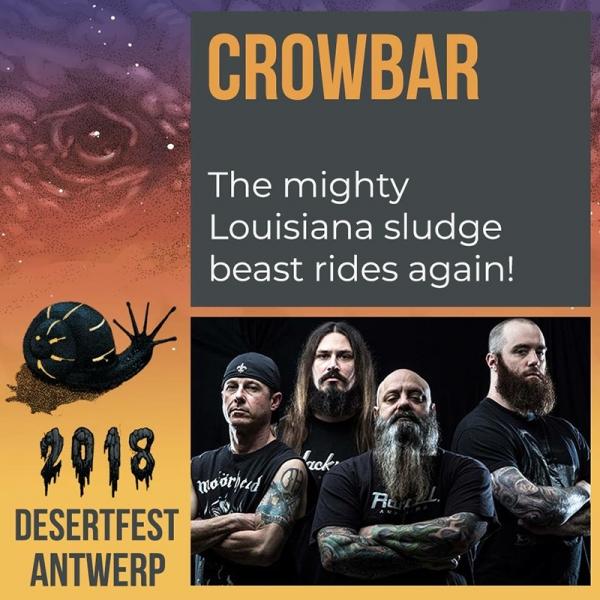 Desertfest Bélgica anuncia nuevas confirmaciones Crowbar