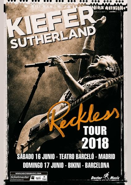 El actor Kiefer Sutherland presentará en Madrid y Barcelona su disco debut