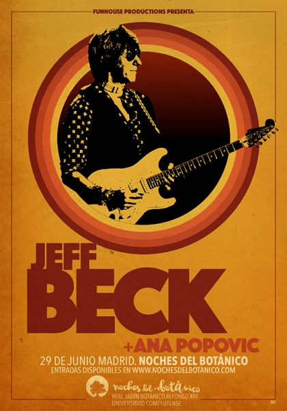 Jeff Beck en Barcelona, Madrid y Bilbao Noches del Botánico