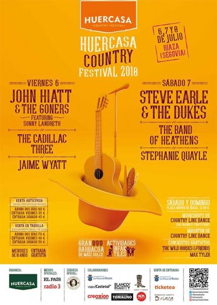 Huercasa Country festival 2018 cartel definitivo