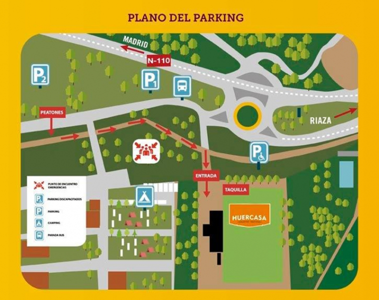 Huercasa Country festival 2018 plano parking