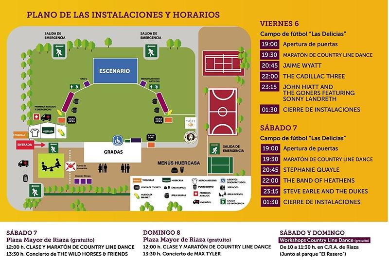 Huercasa Country festival 2018 plano