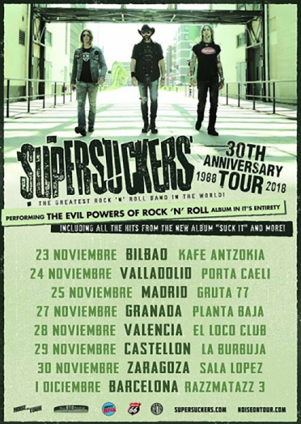 Gira 30 aniversario de Supersuckers Suck it 2018