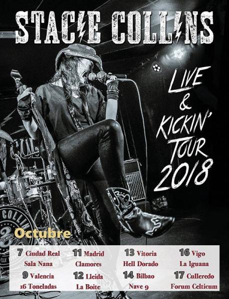 Gira española de Stacie Collins 2018 Live and Kickin