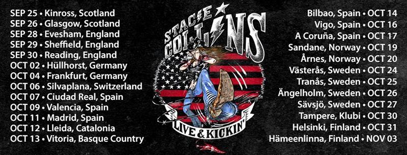 La gira de Stacie Collins Live & Kickin' en octubre 2018