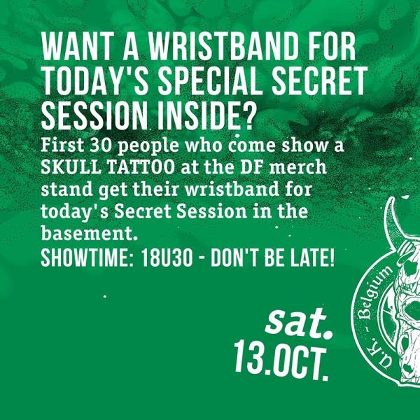Desertfest Bélgica viernes 12 Pista para la sesión secreta