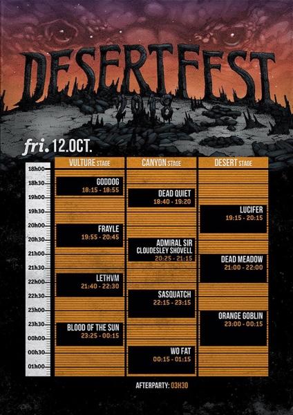 Desertfest Bélgica viernes 12