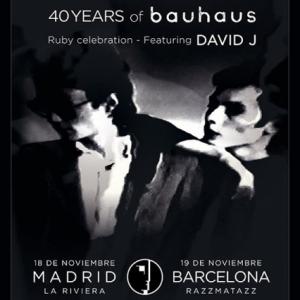 Peter Murphy y David J. 40 Aniversario de Bauhaus en Madrid y Barcelona 2018