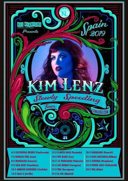 Kim Lenz anuncia gira española para marzo de 2019 presentando su nuevo disco, Slowly Speeding
