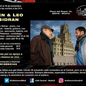 Ben y Leo Sidran celebran 20 años de música en el Café Central
