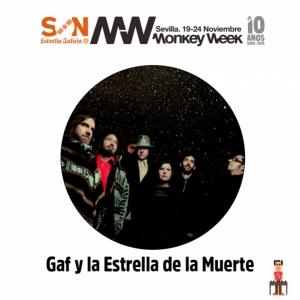 GAF y la estrella de la muerte en el Monkey Week y Madrid presentando Gamma Bay