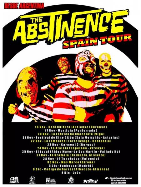 The Abstinence gira española 2018