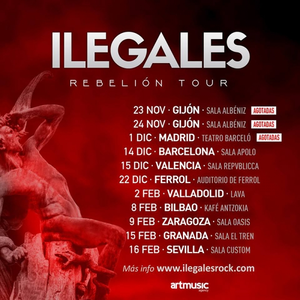 Ilegales rebelion Tour Madrid 2018