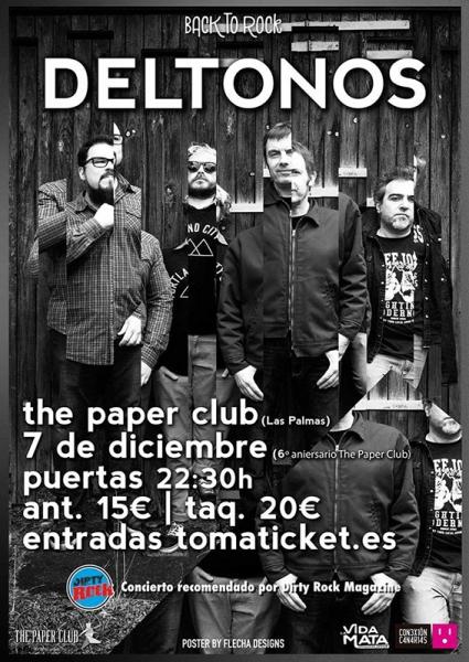 Los Deltonos Fuego las Palmas back to rock