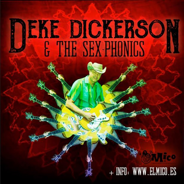 Deke Dickerson & The Sex-Phonics gira en febrero 2019
