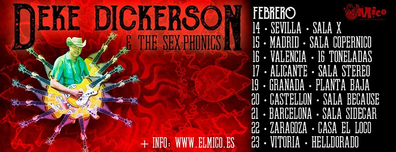 Deke Dickerson & The Sex-Phonics gira febrero 2019