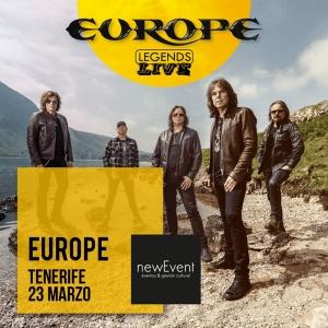 Europe anuncian conciertos en Málaga, Gran Canaria y Tenerife en 2019