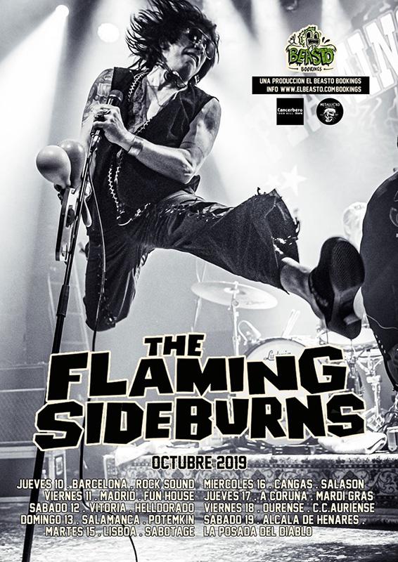 The Flaming Sideburns (Finlandia),en concerto no Auriense
