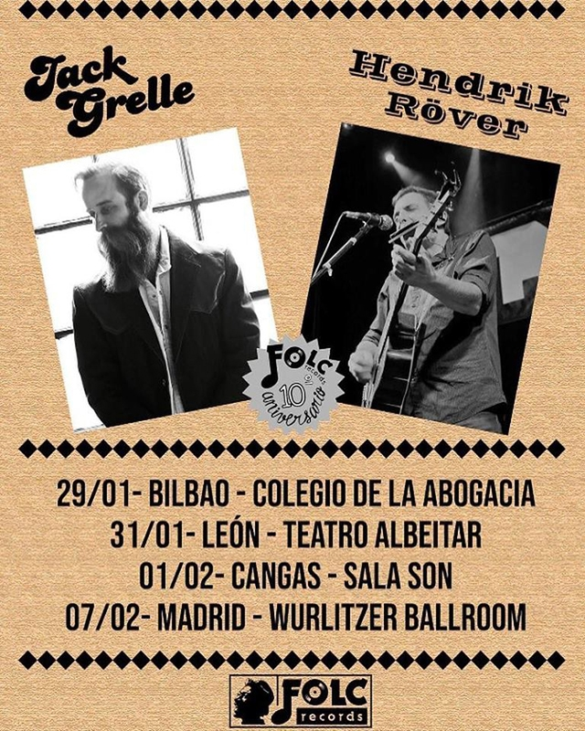 Gira española de Jack Grelle con conciertos junto con Hendrik Röver 2019