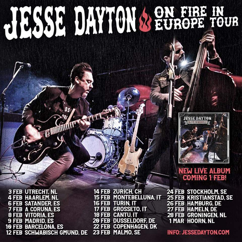 Jesse Dayton Europe Spain tour 2019 disco gira