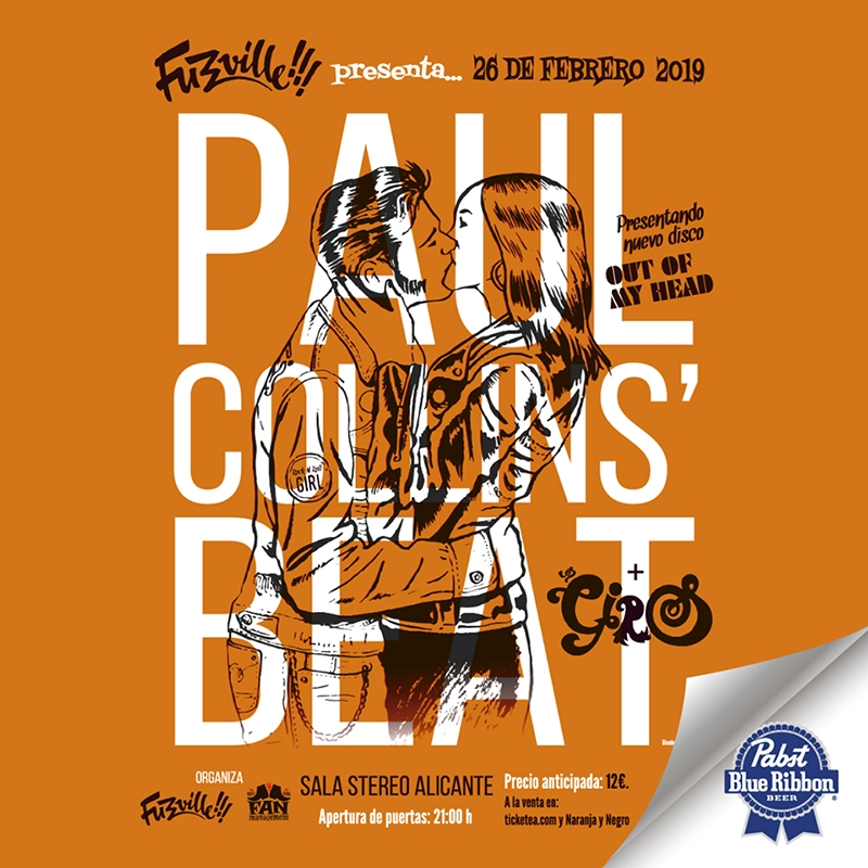 Gira de Paul Collins Beat para presentar Out of my Head