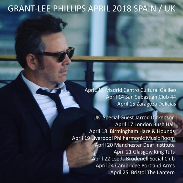 Grant-Lee Phillips actuará por primera vez en Madrid, San Sebastián y Zaragoza 2018