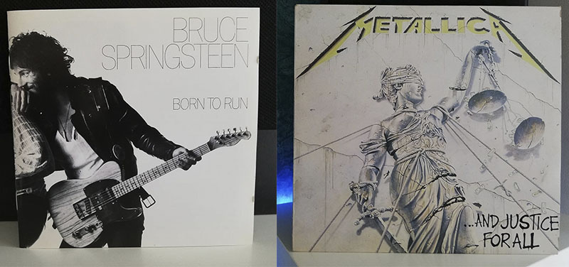 Bruce Springsteen Born to Run Metallica …And Justice for All disco