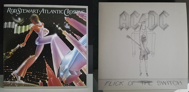 Rod Stewart Atlantic Crossing ACDC Flick of the Switch disco