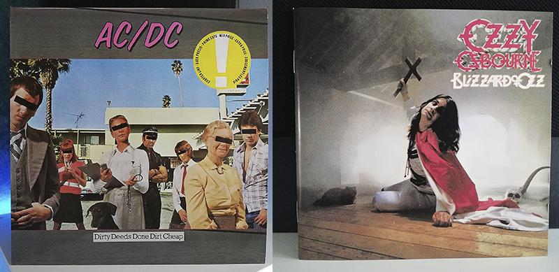 ACDC Dirty Deeds Done Dirt Cheap Ozzy Osbourne Blizzard of Ozz disco