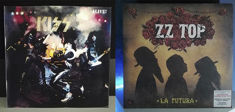 KISS Alive! ZZ Top La Futura disco