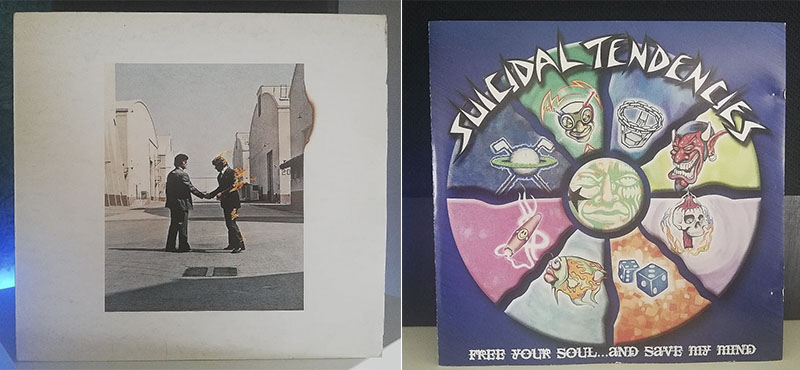 Pink Floyd Wish You Were Here Suicidal Tendencies Free Your Soul And Save My Mind disco
