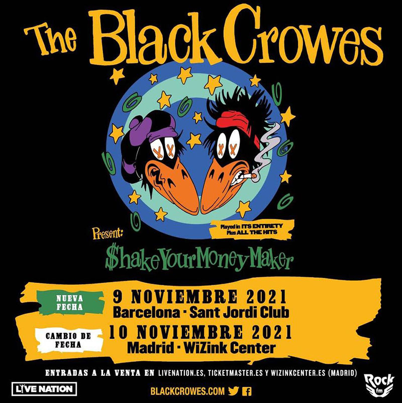 The Black Crowes posponen su gira y actuarán en Barcelona y Madrid en noviembre de 2021