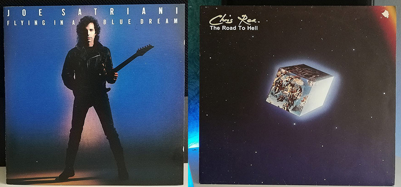 Chris Rea The Road to Hell Joe Satriani Flying in a Blue Dream disco