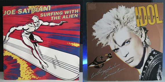 Joe Satriani Surfing with the alien Billy Idol Whiplash Smile disco