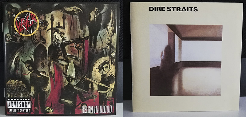 Slayer Reign in Blood Dire Straits Dire Straits disco