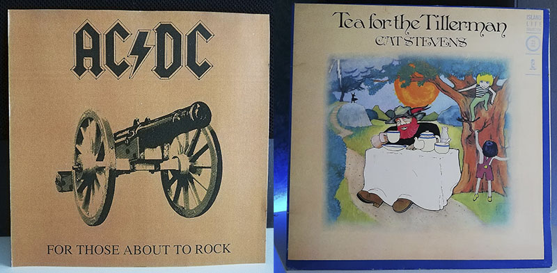 ACDC For Those About to Rock (We Salute You) Cat Stevens Tea for the Tillerman disco