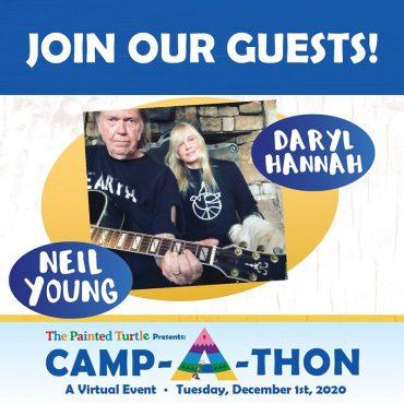 Actuación de Neil Young en el concierto benéfico Camp-A-Thon