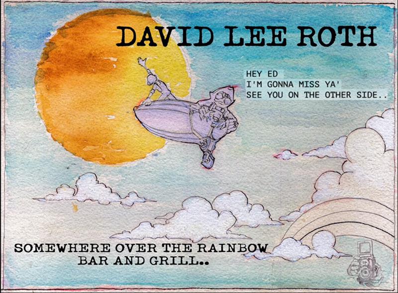 David Lee Roth le dedica Somewhere Over the Rainbow Bar and Grill a Eddie Van Halen
