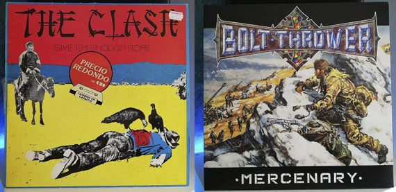 The Clash Give 'Em Enough Rope Bolt Thrower Mercenary disco